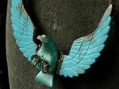 Vintage Turquoise Eagle Necklace