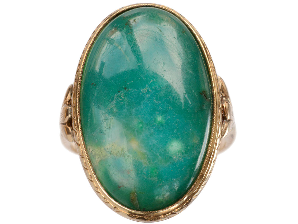 1910s Large Green Ring