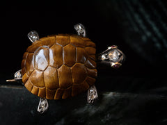 c1880 Diamond Turtle Brooch