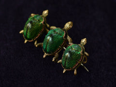 1890s Scarab Turtle Brooch