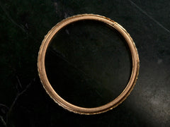 Vintage Patterned Gold Band
