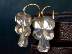 1920s Mirrored Pansy Earrings