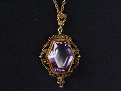 1880s Hexagonal Amethyst Necklace