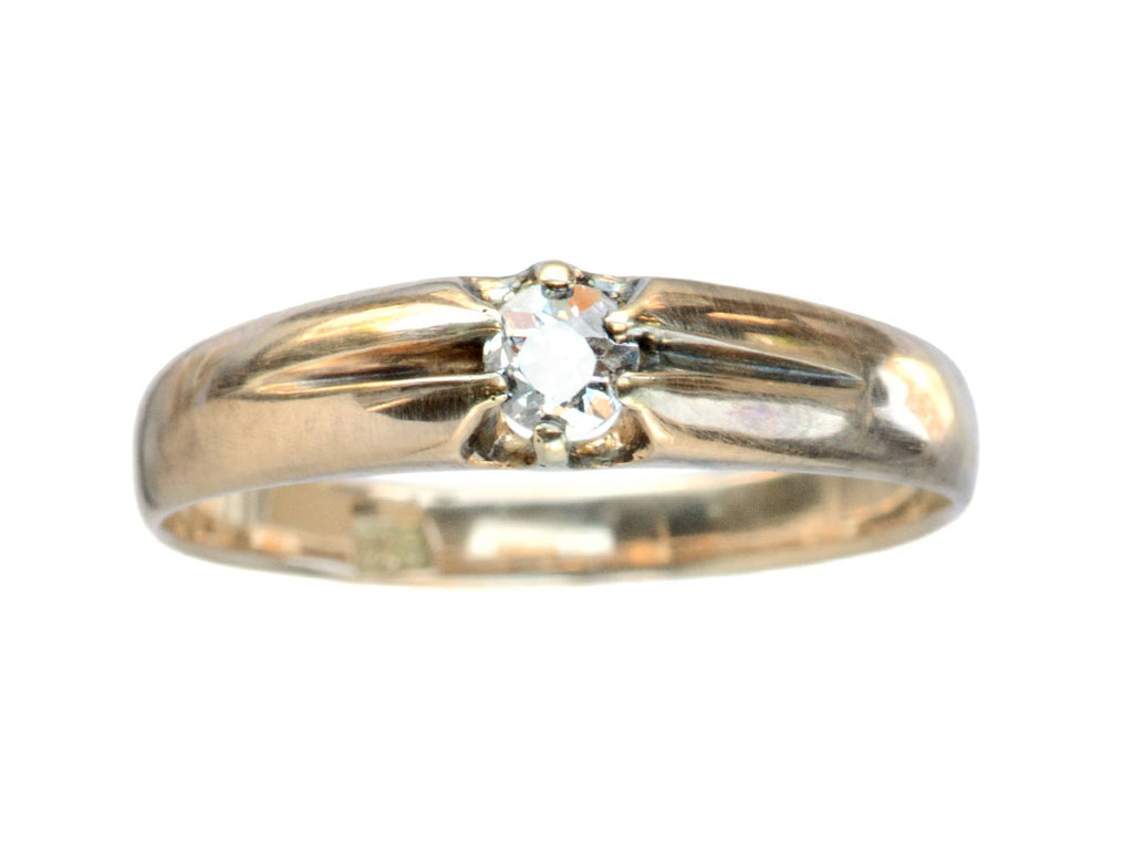 c1880 Victorian 0.20ct Diamond Ring