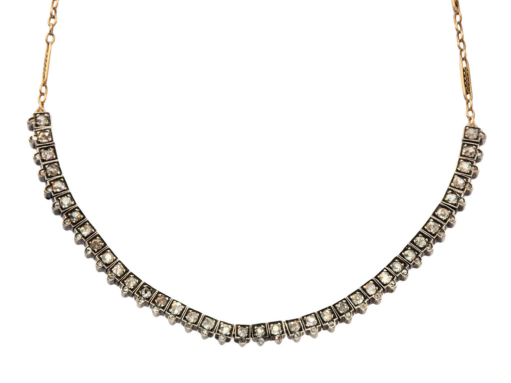 1880s Victorian Diamond Necklace