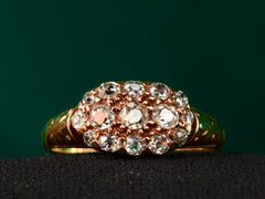 1890s Victorian Oval Cluster Ring