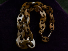 1880s Vulcanite Chain Necklace