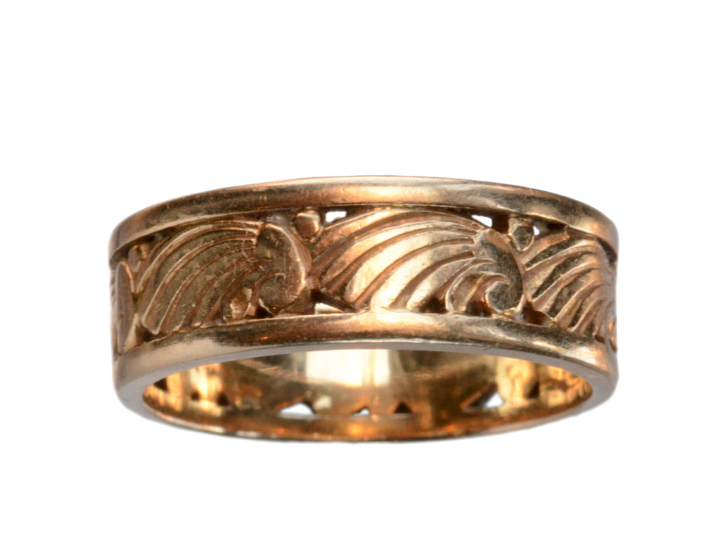 1930s Art Deco Wave Ring