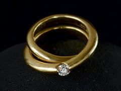 1970s Wempe Diamond Crossover Ring