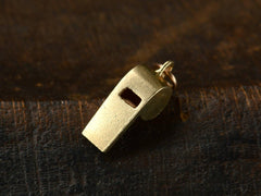 1950s Gold Whistle Charm