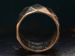 1950s Wide Faceted Band