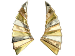 1980s Gold Wing Earrings