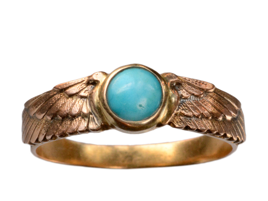Egyptian Revival Turquoise Ring