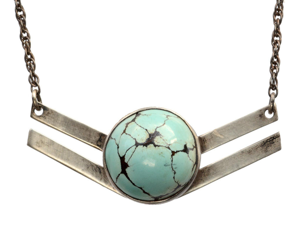 Vintage Turquoise Wing Necklace