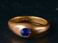 1891 Victorian Sapphire Ring