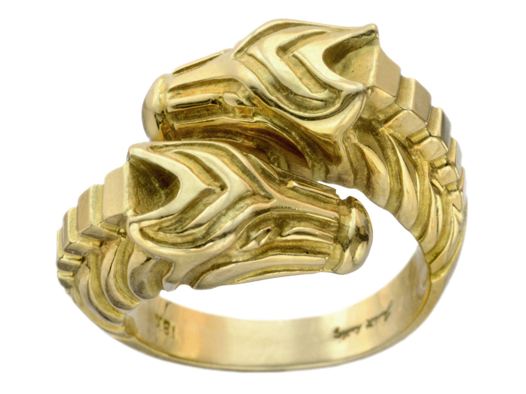 Vintage Double Zebra Ring