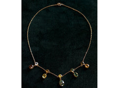 1900s Colorful Gemstone Necklace