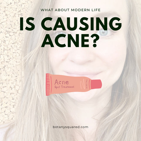 adult acne caused by skincare