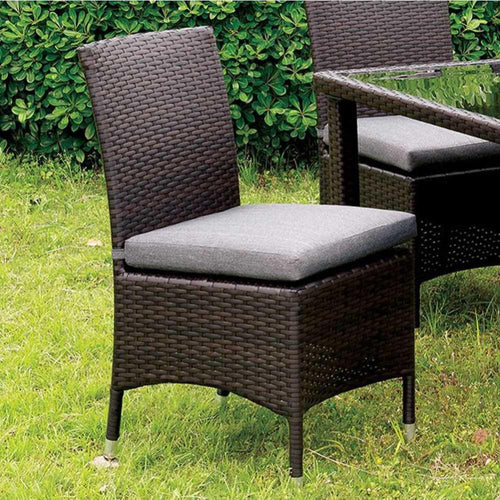 Contemporary Side Chair, Gray, Set Of 2
