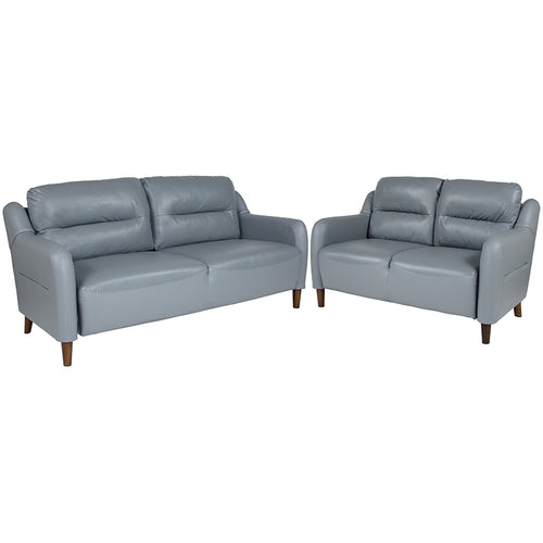 Gray Loveseat and Sofa Set