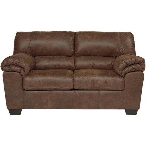 Slate Leather Loveseat