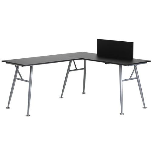 Beech L-Shape Desk