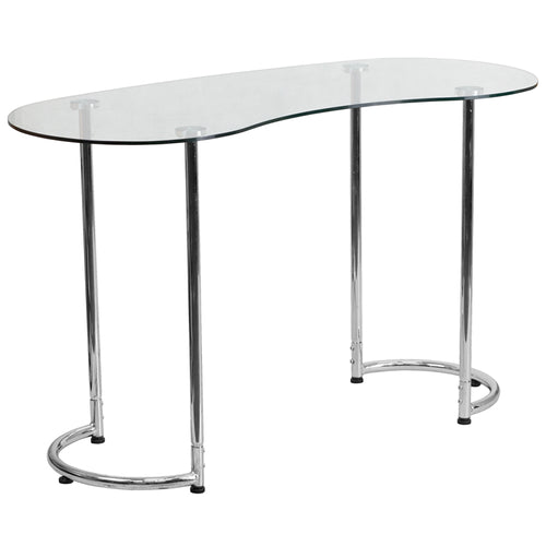 Glass Curvy Computer Desk