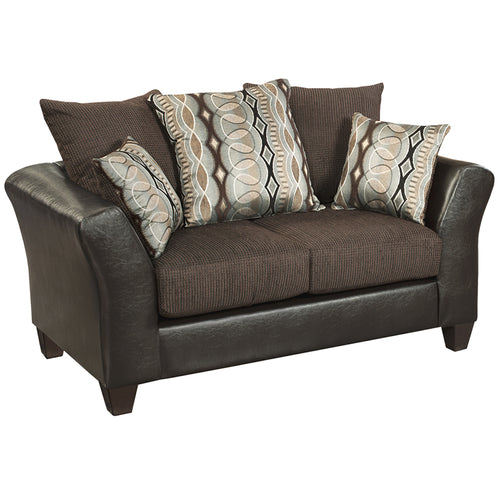 Sable Velvet Loveseat