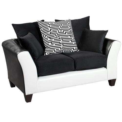 Black Velvet Loveseat
