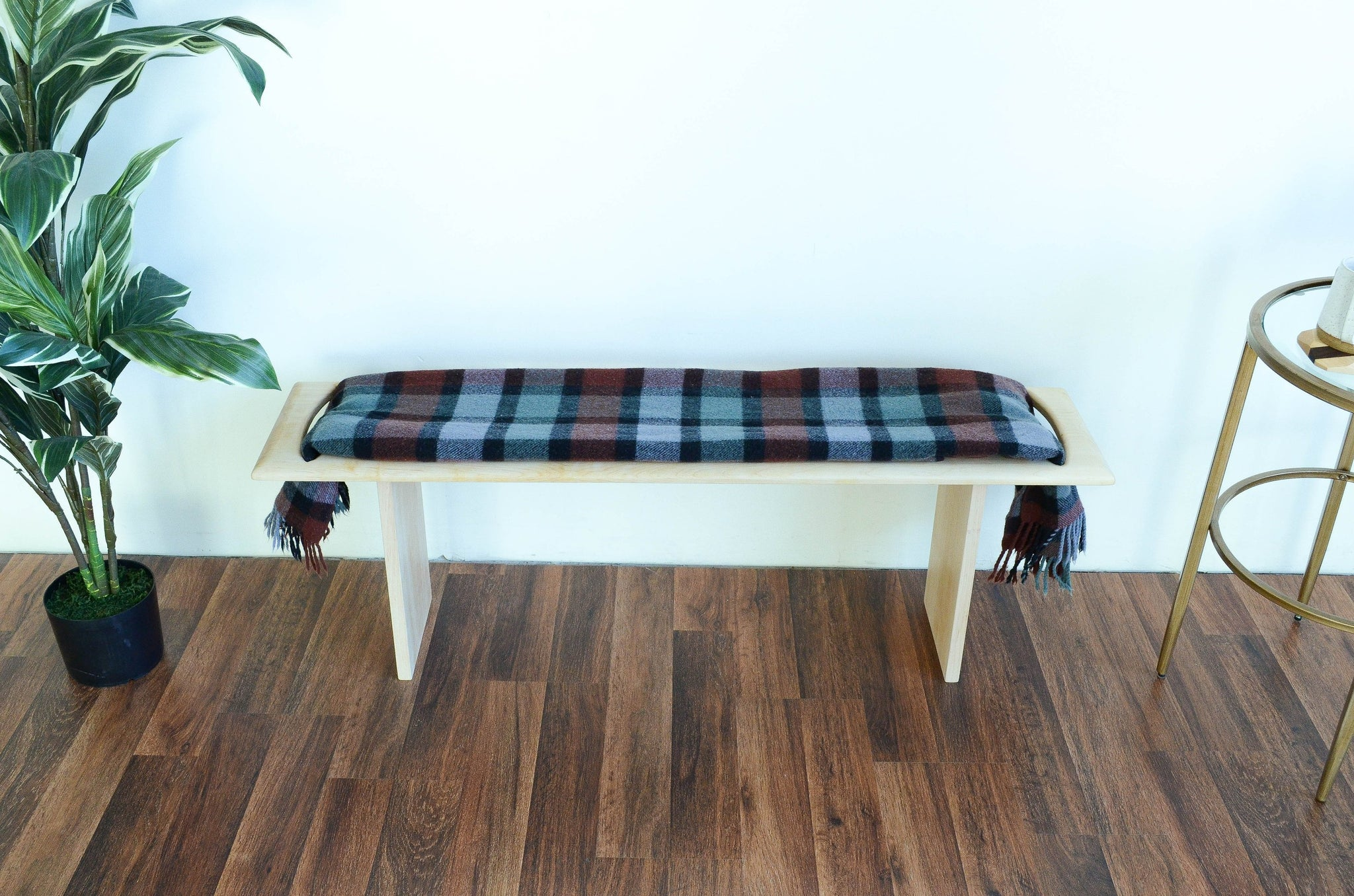 Sensational Blanket Wood Bench 11Th Lane Home Furnishings Machost Co Dining Chair Design Ideas Machostcouk