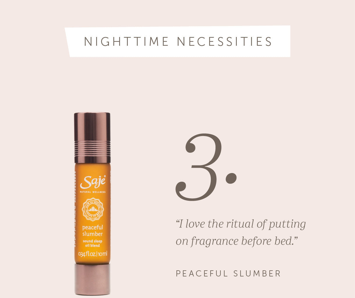 Saje Peaceful Slumber Fragrance