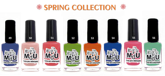 1. SPRING stamping polish collection - 14 ml