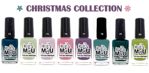 11. CHRISTMAS stamping polish collection - 14 ml