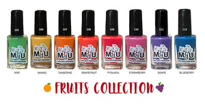 16. FRUITS stamping polish collection - 14 ml