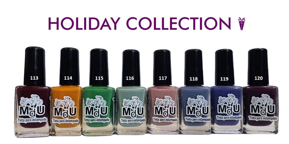 17. HOLIDAY stamping polish collection - 14 ml