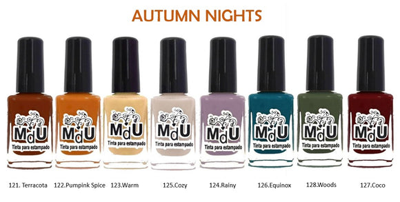 18. AUTUMN NIGHTS stamping polish collection - 14 ml