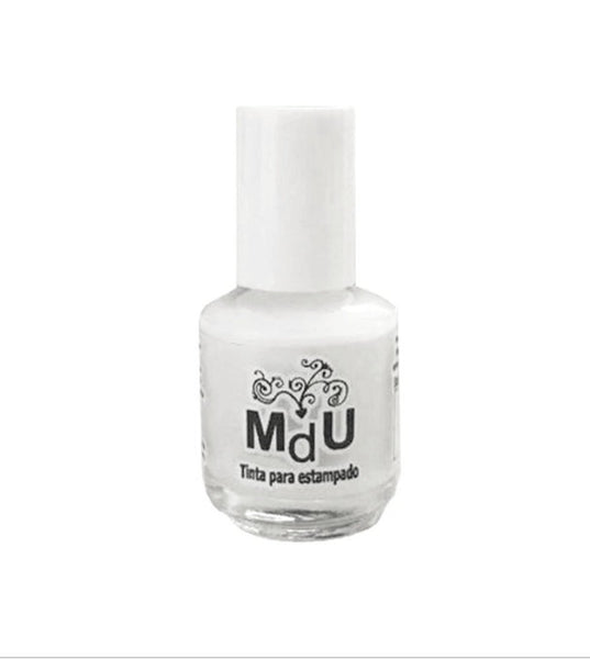 1. WHITE stamping polish - 5ML mini