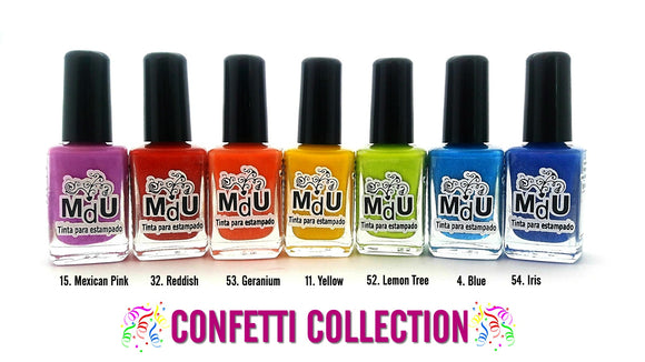 2. CONFETTI stamping polish collection - 14 ml