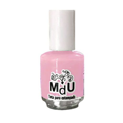 25. PASTEL PINK stamping polish - 5ML mini
