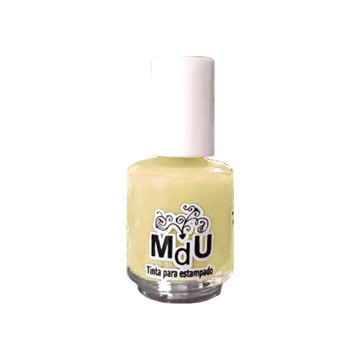 26. PASTEL YELLOW stamping polish - 5ML mini