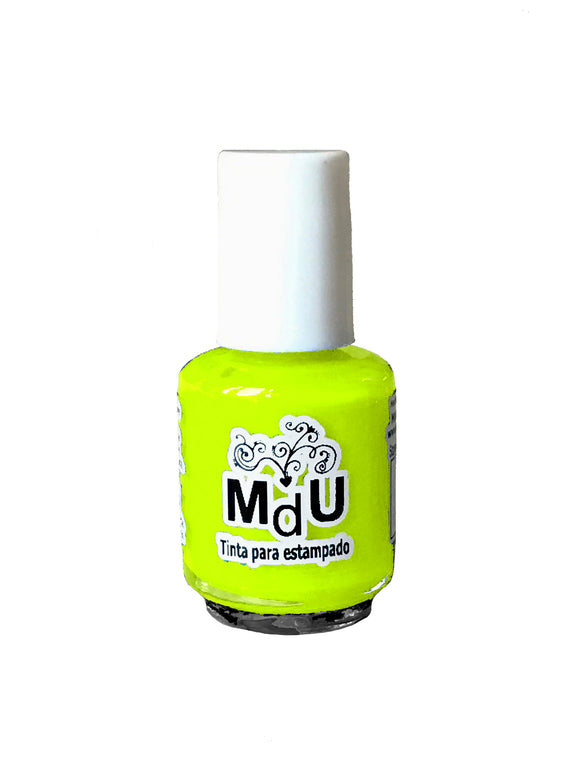 27. NEON YELLOW stamping polish - 5ML mini