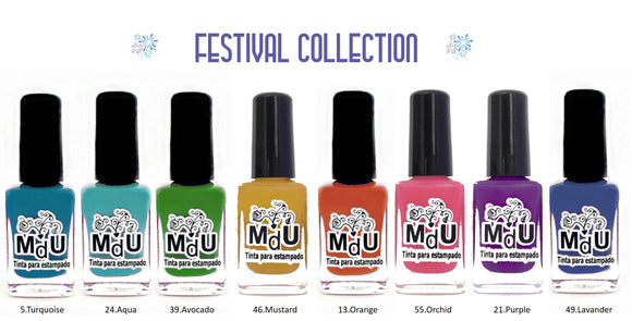 3. FESTIVAL stamping polish collection - 14 ml