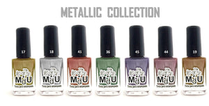 5. METALLICS stamping polish collection - 14 ml
