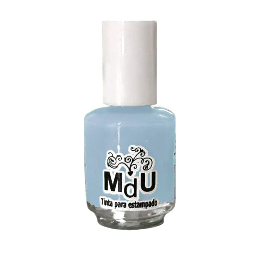 6. PASTEL BLUE stamping polish - 5ML mini