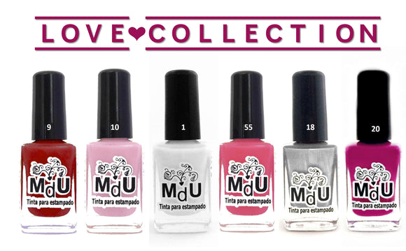 7. LOVE stamping polish collection - 14 ml