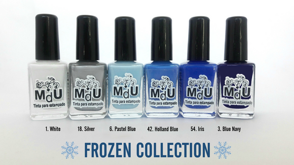 8. FROZEN stamping polish collection - 14 ml
