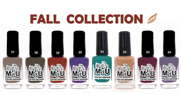 9. FALL stamping polish collection - 14 ml