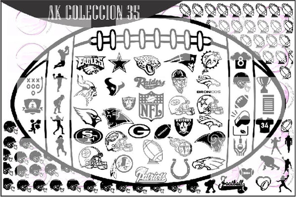 AK COLLECTION 35 - Football stamping plate