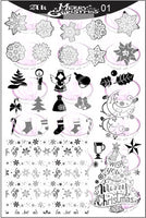 AK Merry Christmas 01 Stamping plate