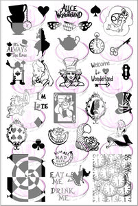 ALICE IN WONDERLAND Stamping plate
